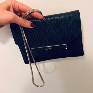 Kate Spade Black Mini Bag with Gold Chain Strap